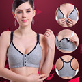 Maternity Nursing Bras with front closure Breastfeeding bra for pregnant women Cotton brassiere Gather Nursing Bra for pregnant