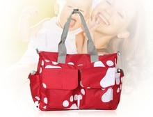 Moda Bolsa de Pañales Grandes Bolsas Para Mamá Maternidad Cambiar Pañales Cochecito de Bebé Bolsa de Bebé de Diseño Cosas Organizador Del Bolso