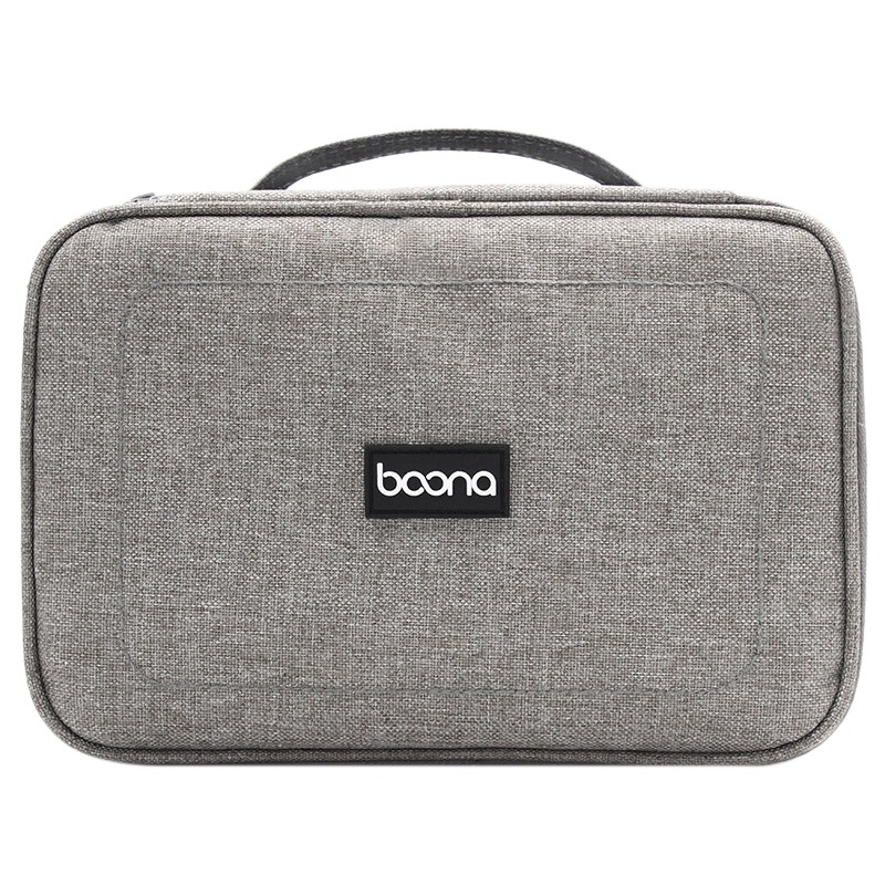 baona Portable Travel Case Cable Organizer Clips Electronic Accessories Storage Bag For Usb Drive Charger Power Flash Disk Lap