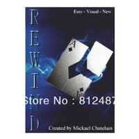 Rewind With Gimmick Close Up Card Magic Trick Products Wholesale
