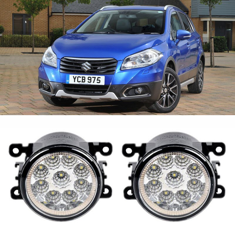 Car Styling For Suzuki SX4 S-Cross 2013-2017 9-Pieces Leds Fog Lights H11 H8 12V 55W LED Fog Head Lamp car styling for dacia renault sandero 2010 2016 9 pieces leds chips led fog light lamp h11 h8 12v 55w halogen fog lights