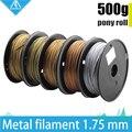 Горячее предложение! 500 г 3d принтер металлическая нить, 30% нитей содержания металла-латунь/бронза/медь/алюминий, 1,75