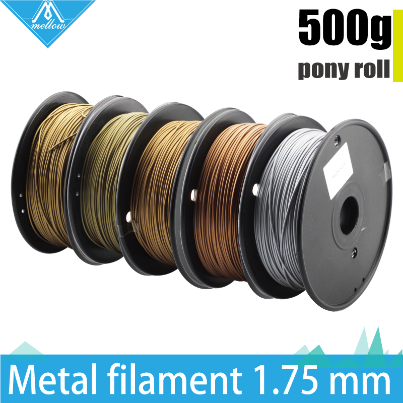 Hot!500g 3D Printer Metallic Filament,30% Of Metal Content Filaments -Brass /Bronze /Copper /Aluminum, 1.75 flsun 3d printer big pulley kossel 3d printer with one roll filament sd card fast shipping
