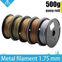 Hot!500g 3D Printer Metallic Filament,30% Of Metal Content Filaments Brass /Bronze /Copper /Aluminum, 1.75