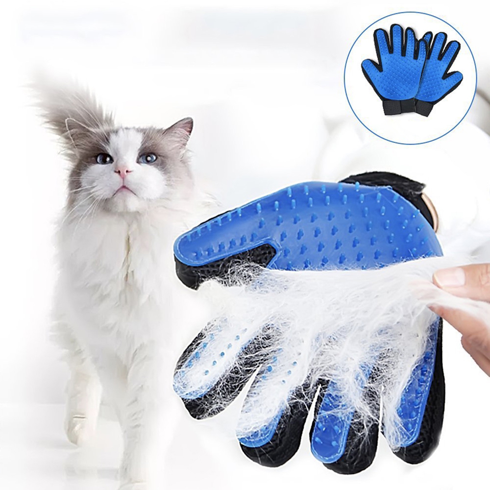 Pet Hair Glove Comb Dog Cat Grooming Glove Cleaning Deshedding Left Right Hand Hair Removal Brush Promote Blood Circulation in Dog Combs from Home Garden