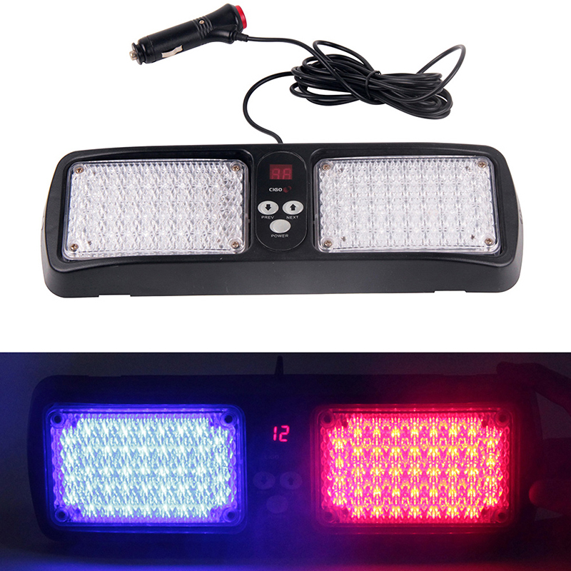 12V Auto Car Truck Sun Visor Panel Sunshield Wind Shield Led Strobe Flash Emergency Warning Light Red Blue White Yellow Signal 4pcs set smoke sun rain visor vent window deflector shield guard shade for cadillac xt5 2016 2017