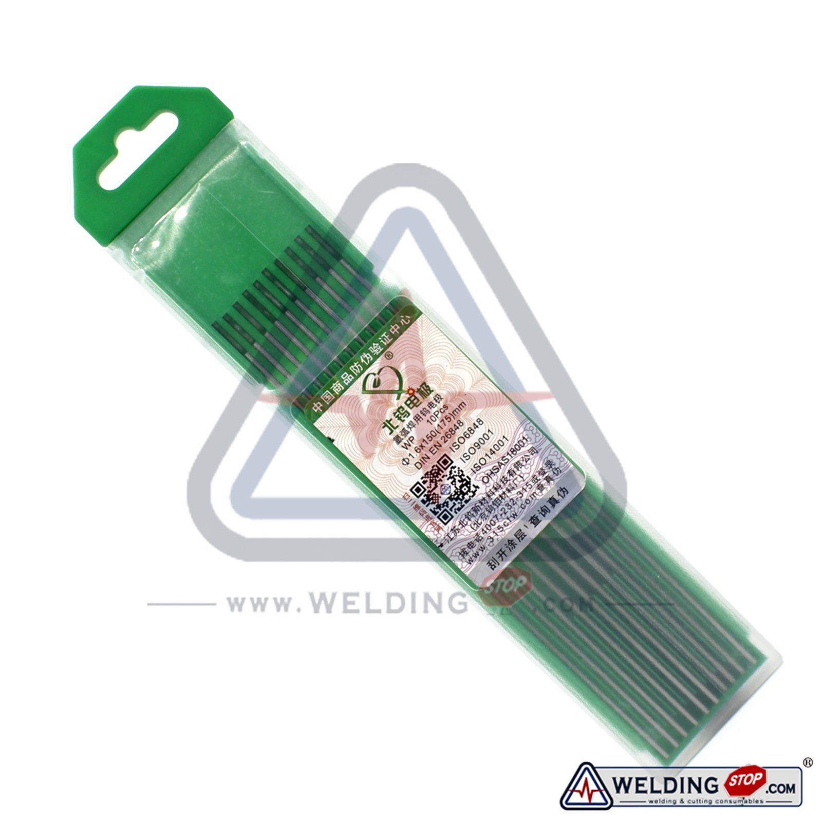 WP20 TIG Welding Pure Tungsten Electrode 1.6 X 150mm 1/16 X 6 Green PK/10 the rolling stones the rolling stones dirty work