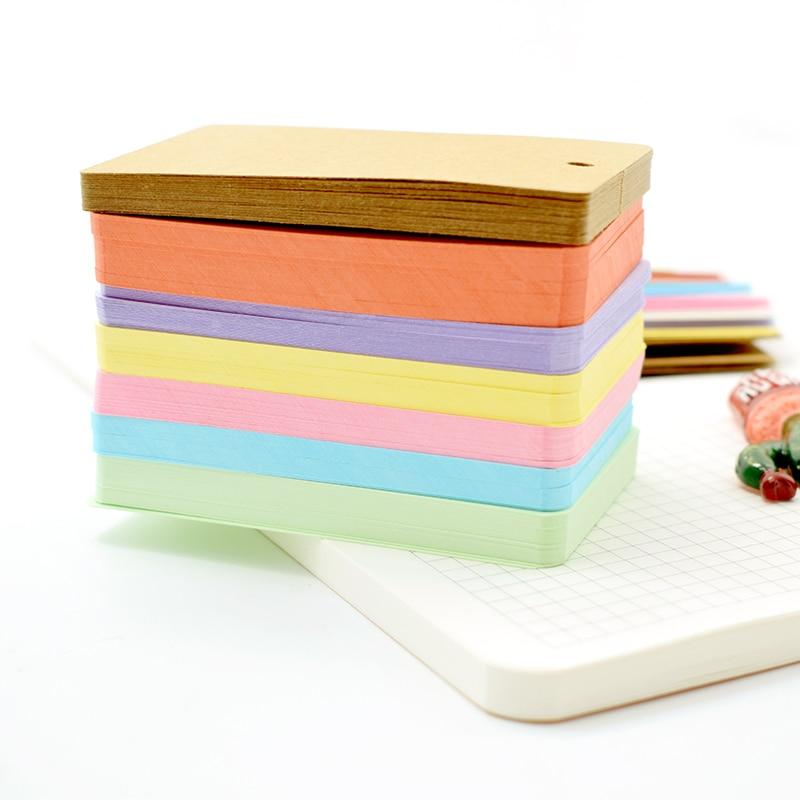 Leuke Kawaii Snoep Kleur Lege Kraftpapier Memo Pads Draagbare - Notitieblokken en schrijfblokken bedrukken - Foto 2