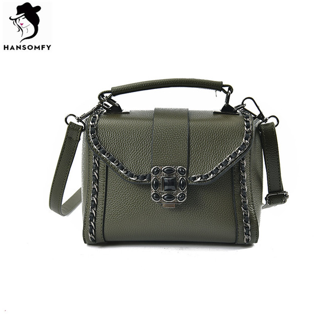 Rock style fashion Messenger bag Chain decorated ladies shoulder bag Europe and the United States wild flap bag
