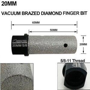 Image 3 - DIATOOL 1pc Dia 10/20/25mm Vacuum Brazed Diamond finger bits With 5/8 11 or M14 Thread Enlarge shape round bevel existing hole