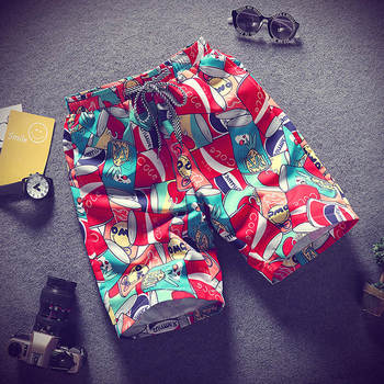 2019 Men's beach shorts personality printing summer thin section breathable comfort casual men's shorts large size M-4XL 1
