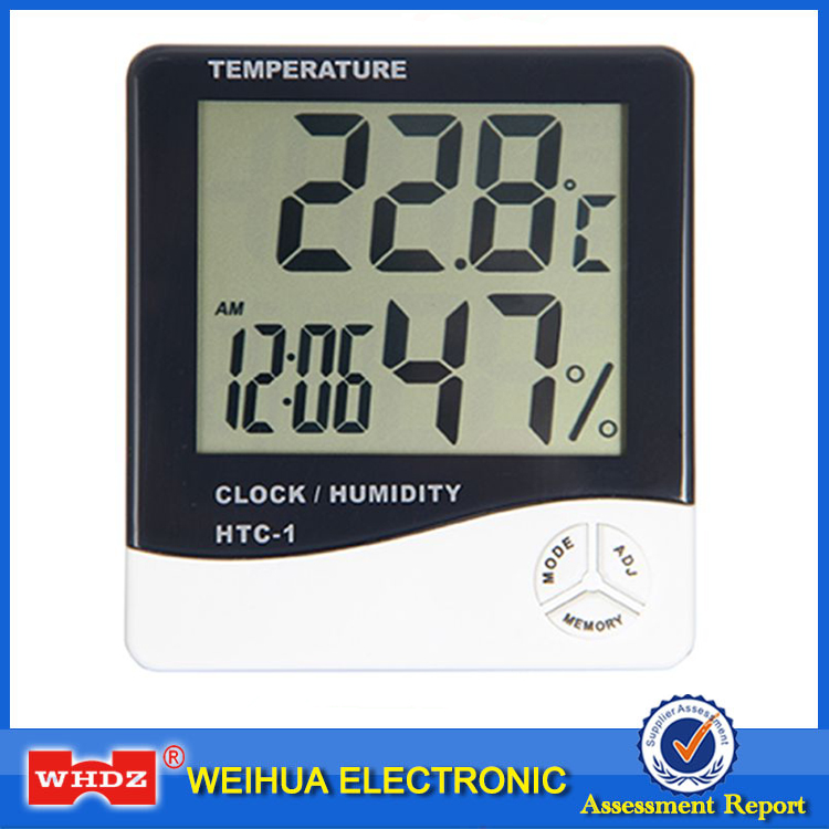 HTC-1 Electronic Temperature Humidity Meter Indoor Room LCD Digital Thermometer Hygrometer Weather Station Alarm Clock indoor temperature humidity meter room lcd electronic digital thermometer hygrometer weather station alarm clock htc 1