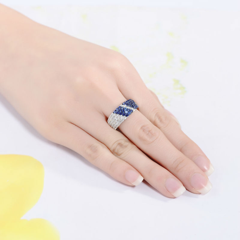 Image 5 - SANTUZZA Silver Ring For Women 925 Sterling Silver Fashion Round Rings for Women 2017 Cubic Zirconia Ringen Party Jewelry-in Rings from Jewelry & Accessories