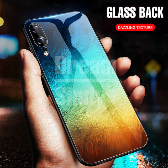 separation shoes 386aa 3ea36 US $2.54 29% OFF Luxury Tempered Glass Phone Case For Huawei P20 Lite Full  Back Cover For Huawei P20 Pro TPU Soft Edge Silicone Glass Cases Coque-in  ...