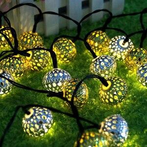 Image 4 - Led 야외 태양 램프 led 문자열 조명 요정 휴일 크리스마스 결혼식 파티 garlands 태양 정원 방수 led 태양 빛