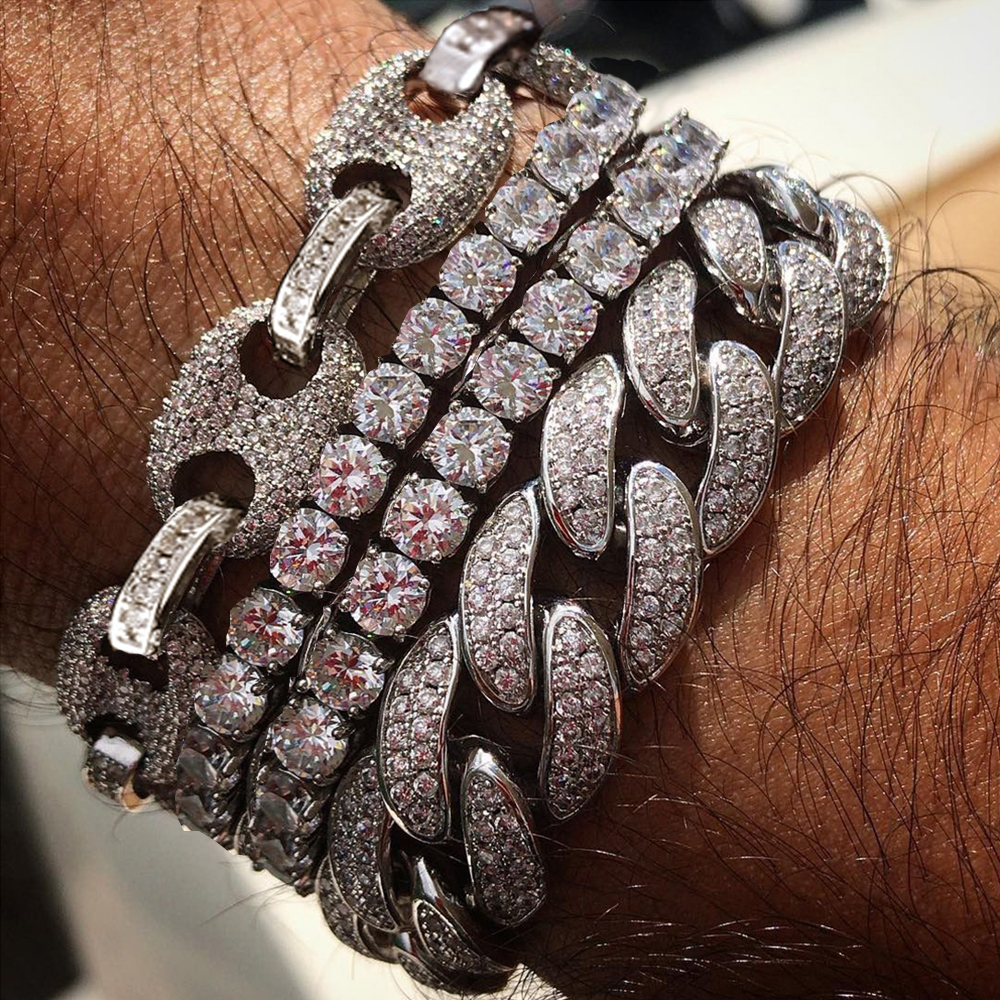 Men's Bling Iced Out CZ Hip...