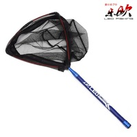 210CM Length Small Mesh Fishing Net Aluminium alloy Folding Carp Net Fishing Accessories High Quality Fishing Tackle