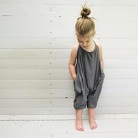 New Baby Girl Clothes Set Fashion Kids Girl Sleeveless Trousers Romper Sunsuit Spring Summer Children Kids