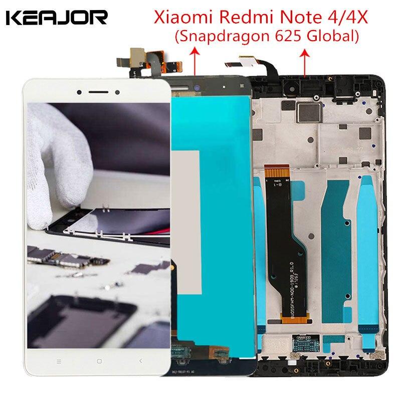 Für Xiaomi Redmi Hinweis 4X Lcd-bildschirm Redmi Hinweis 4 Display Screen mit Rahmen für Redmi Hinweis 4 Globale Version 5.5 ''Snapdragon 625