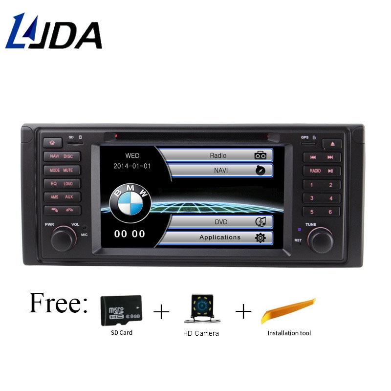LJDA 1 Din Dans Dash WINCE Lecteur DVD de Voiture Pour BMW E39 X5 E53 M5 Radio GPS Navigation Audio Directeur roue Stéréo Multimédia Canbus