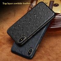 LANGSIDI Brand Phone Case Ostrich Grain Half Wrapped Phone Case For IPhone 8 Phone Case Full