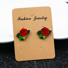 Many New Designs Animal Rabbit Monkey Fruit Month Small Acrylic Stud Earrings For Women Night Club Punk Jewelry Accessories e098