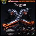CNC Ajustável Dobrável Motocicleta Alavancas de Freio de Embreagem Para Triumph 675 STREET TRIPLE R/RX 2009 2010 2011 2012 2013 2014 2015 2016