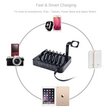 6 USB Holder Desktop Charger Station 50W Fast Charging For iPhone 5S 6 6S 7 Plus iPad For Samsung Huawei ZTE Sony Stand Adapter