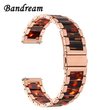 Stainless Steel & Resin Watchband 20mm 22mm for CK DW Diesel Fossil Timex Armani