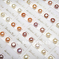 50pcs Natural Freshwater Pearls Silver Plated Women Stud Earrings Wholesale Fashion Jewelry Lots A-024