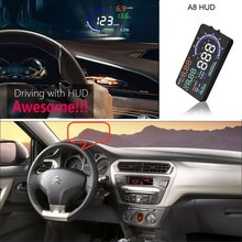 Car HUD Head Up Display For Jeep Grand Cherokee 2015 2016 - Saft Driving Screen Projector Inforamtion Refkecting Windshield liislee for jeep wrangler 2015 2016 obd2 overspeed warning car head up display driving screen projector reflecting windshield