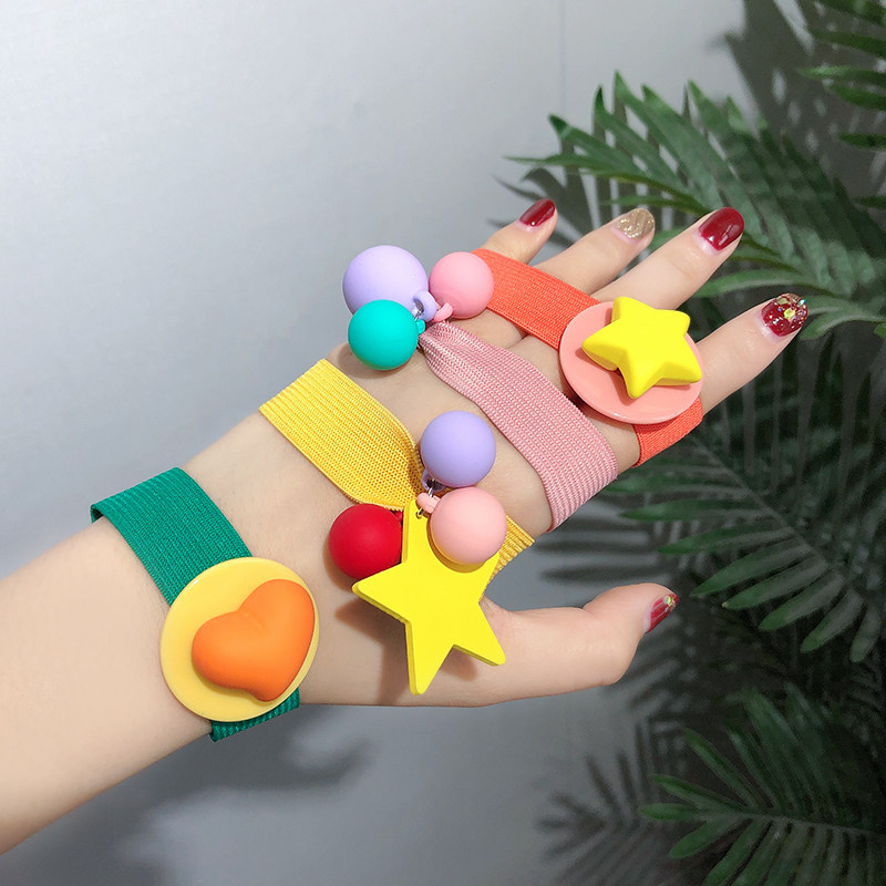 2019 New Design Colorful Heart Star Ball Knot Elastic Hair Bands Women Ponytail Holder Rubber Bands Scrunchie Hair Accessories