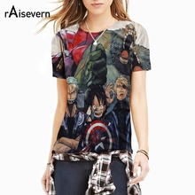 Raisevern 2017 New Cartoon 3D T Shirt ONE PIECE Marvel Anime Character Print Summer Tee Top Mens Harajuku Casual t-shirts Tee