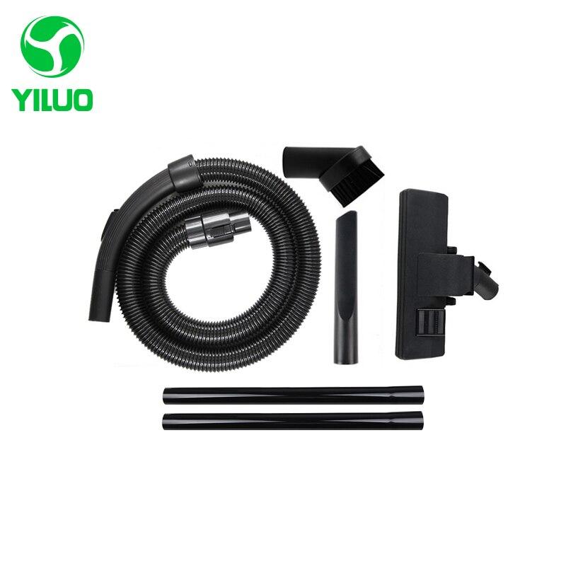 Diameter 32mm Black Flexible suction Hose+black Straight hose pipe +suction nozzle for Vacuum Cleaner parts VC35J-10AC CS869 etc vacuum cleaner soft suction hose