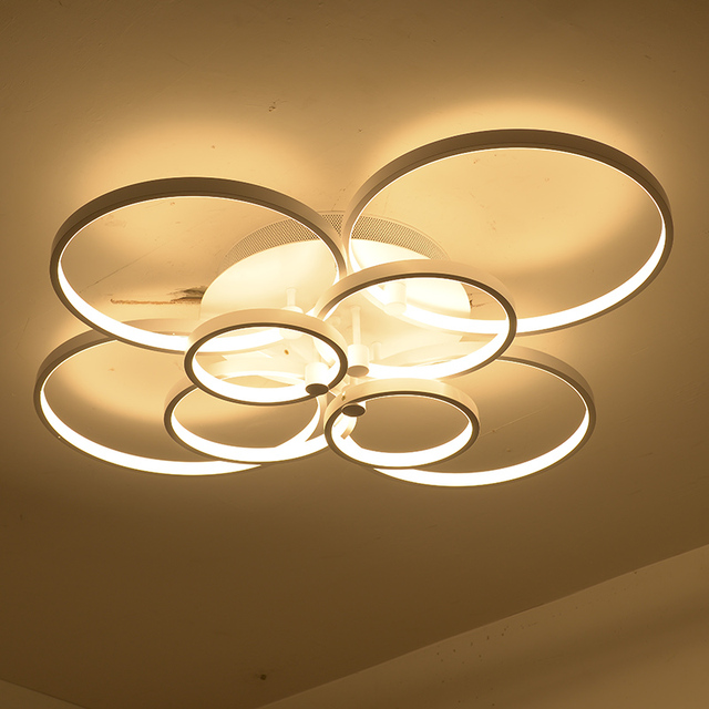 Modern Super Thin Circel Rings Led Ceiling Chandelier Lamp