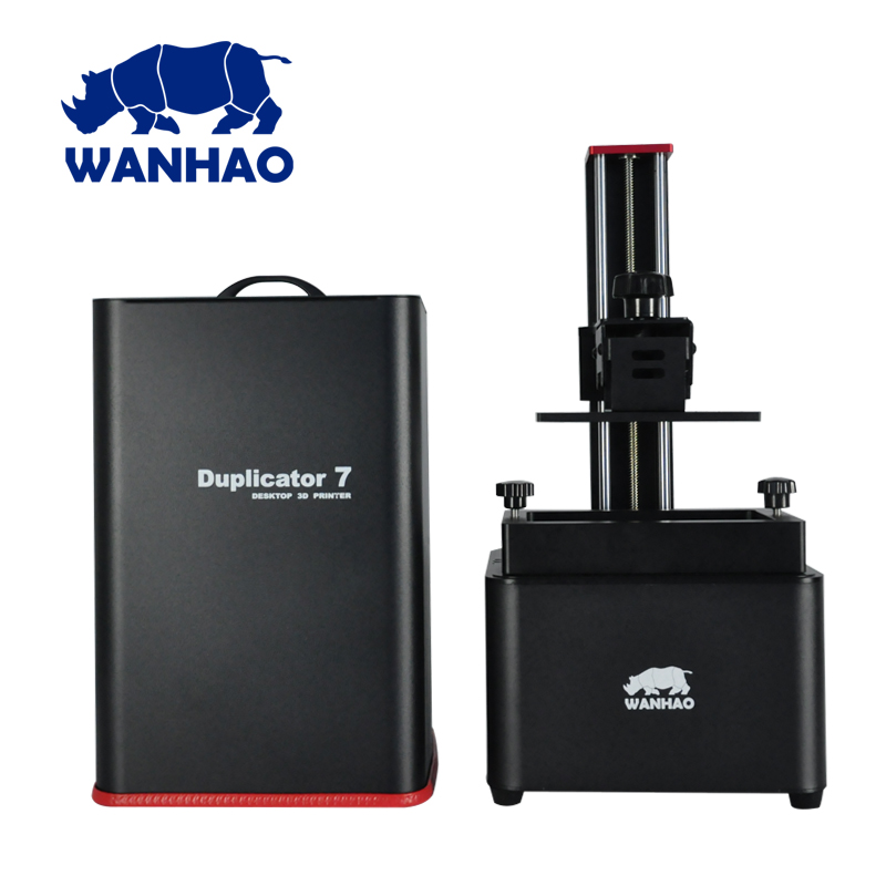 WANHAO D7 1.5 DLP UV resin 3D printer with red spot, better appearance, better quality, with 250ml sample resin can choose color wanhao granding metal duplicator 4s wanhao d4s 3d printer double extruder with free filaments memory card usb cable