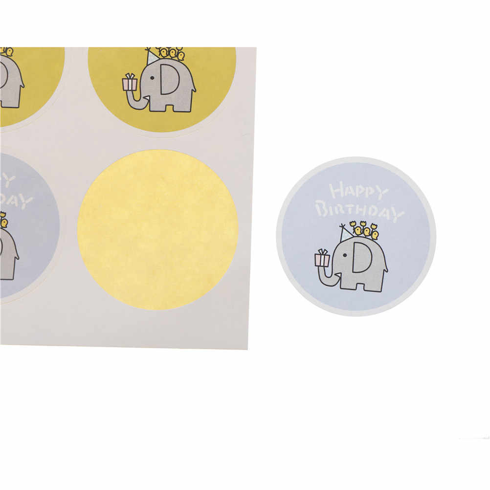 40PCS Handmade Happy Birthday StickerPackaging Label StickersSelf-adhesive Sticker Labels Gift  For Box/Bake/Bag/Tag