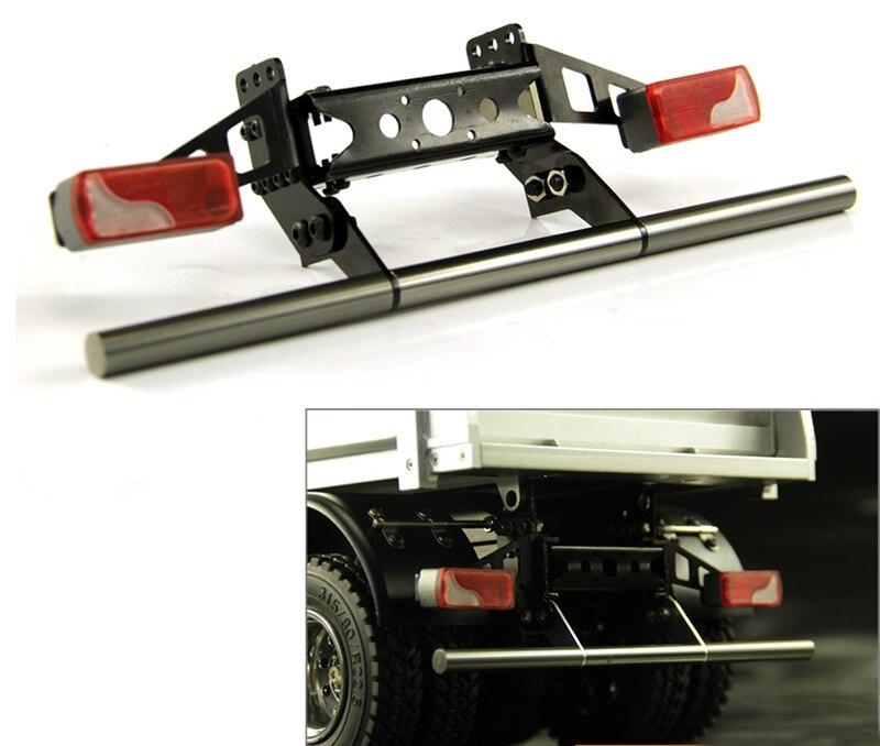DishyKooker RC Truck Metal Rear Bumper for 1//14 Tamiya RC Truck Benz Man Scania Accessories