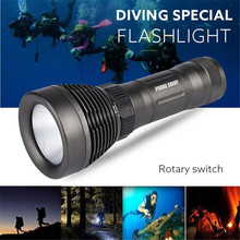 Diving Light Bicycle Light Cycling Bike Head Front Light Underwater 500M XM-L LED Diving Flashlight Waterproof Torch Feb 7