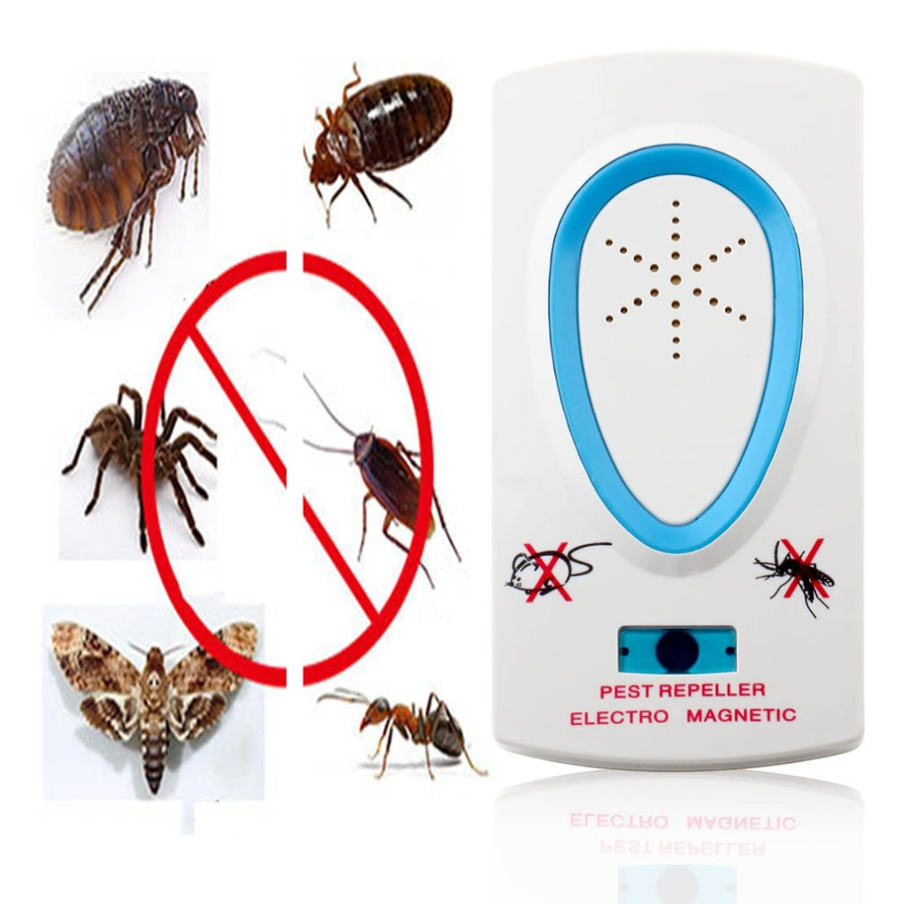 White Pest Repeller Electronic Ultrasonic Mouse Miquito Killer Insekt Kontrolli i brejtësve Bug Zapper Pest Refuzoj elektronike