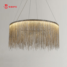 modern air tassel aluminum chain chandelier Lights lighting nordic design art deco chandeliers lustre avize led ceiling  lustres
