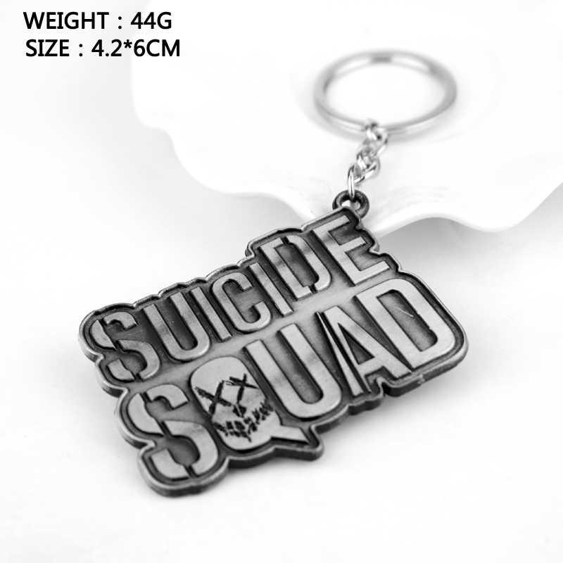 Dongsheng Suicide Squad Keychain Hot Movie Móc Chìa Khóa Men Gift Phụ Nữ Vòng Chìa Khóa Giữ Mặt Dây Chaveiro Trang Sức-50