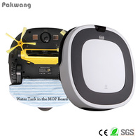 Pakwang White Robot Vacuum Cleaner Wet And Dry D5501 With Remote Control Intelligent Anti Fall Automatic