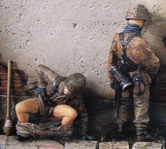 Resin Kits 1/ 35 Uncolor ss soldiers doing somthing  figure    Resin Model DIY TOYS