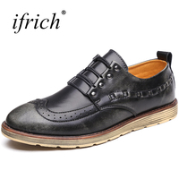 Genuine Leather Shoes Men Rubber Sole Casual Shoes Men Spring Autumn Brand Sneakers Low Top Designer