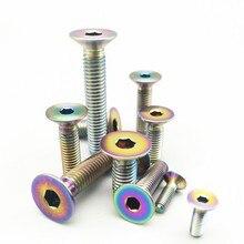Титановые болты M3 M4 M5 M6 M8 с потайной шестигранной головкой, золото, несколько цветов, шестигранная розетка, титановые винты, крепеж 6 шт
