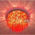 24 Nuevo de lujo cromo pulido de vidrio retorcido pescado habitación luz de techo dormitorio romántico comedor lámpara de techo