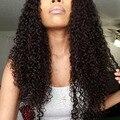7A brasileño de la Virgen Del Pelo Rizado rizado Sin Cola Peluca Llena Del Cordón Del Cordón frente pelucas del pelo humano para las mujeres negras 8-26 pulgadas jk hair pelucas