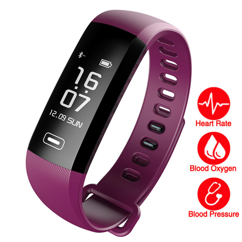 Smart WristBand Fitness Tracker Bracelet Heart Rate Blood Pressure Watch Pulse Meter Oxygen SMS Call Sport band For Android IOS