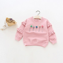 2016 casual girls warm hoodies cartoon sweatshirt children clothes winter baby kids coat jacket baby girls clothing winter